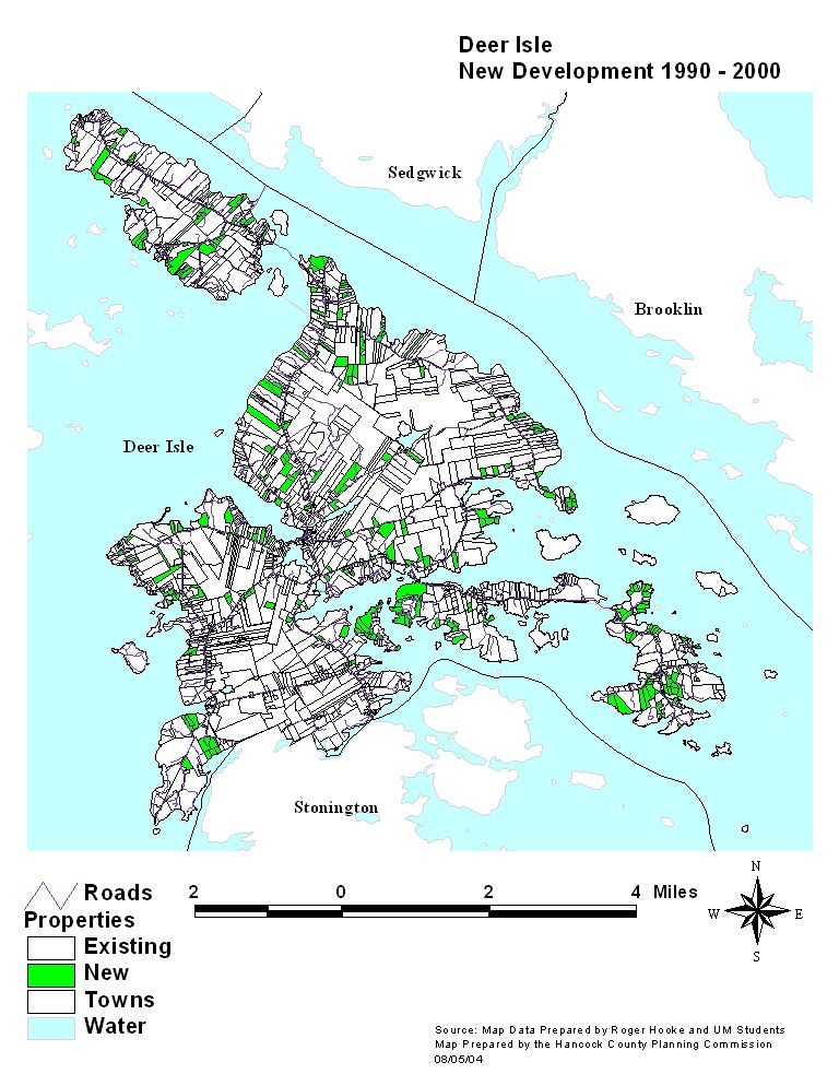 Town Of Deer Isle - Road map maine usa